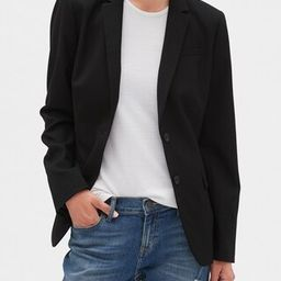 Washable Long and Lean Black Two-Button Blazer | Banana Republic Factory