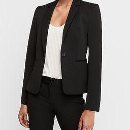 notch collar one button blazer | Express