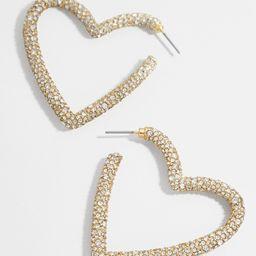 Ciena Heart Hoop Earrings   BaubleBar (US)