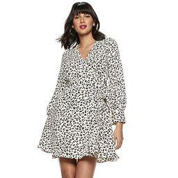 Women's Nine West Long Sleeve Wrap Dress | Kohl's