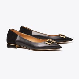 Tory Burch Gigi Suede Pointed-toe Flat: Women's Shoes | Tory Burch (US)