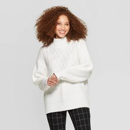Women's Long Sleeve Mock Turtleneck Pullover Sweater - A New Day™   Target