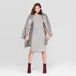 Women's Long Sleeve Crewneck Rib Knit Dress - A New Day™   Target