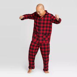 Men's Plaid Holiday Buffalo Check Flannel Pajama Set - Wondershop™ Red | Target