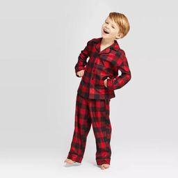 Kids' Holiday Buffalo Check Pajama Set - Wondershop™ Red | Target