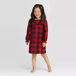 Girls' Holiday Buffalo Check One Piece Pajama - Wondershop™ Red | Target