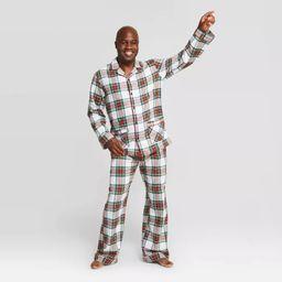 Men's Plaid Holiday Tartan Plaid Flannel Pajama Set - Wondershop™ White | Target