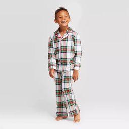 Kids' Plaid Holiday Tartan Pajama Set - Wondershop™ White | Target