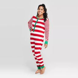 Women's Striped Holiday Union Suit - Wondershop™ Red | Target