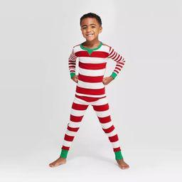Kids' Striped Holiday Pajama Rompers - Wondershop™ Red | Target