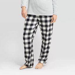 Women's Holiday Buffalo Check Fleece  Pajama Pants - Wondershop™ Black | Target