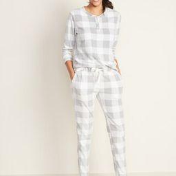 Micro Performance Fleece Pajama Set for Women | Old Navy (US)