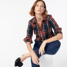 Slim stretch perfect shirt in Stewart tartan | J.Crew US