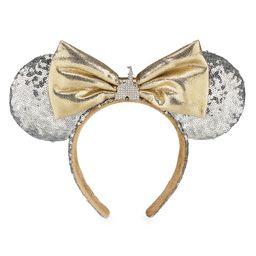 Minnie Mouse Cinderella Castle Ear Headband - Silver Sequins - Walt Disney World | shopDisney | shopDisney