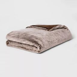 """60"""" x 80"""" Faux Fur Weighted Blanket with Removable Cover - Threshold™ 
