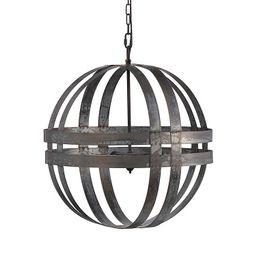 Double Banded Silver Metal Sphere Chandelier | Kirkland's Home