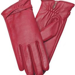 Full-Hand Womens Touch screen Gloves Genuine Leather Gloves Warm Winter Texting Driving Glove | Amazon (US)