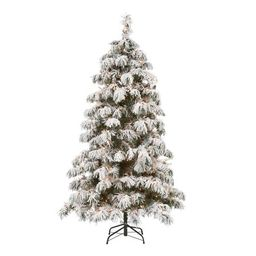 Holiday Time Pre-Lit Downswept Artificial Christmas Tree, 6.5', Clear | Walmart (US)