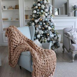 Wool Hugs Blanket, Chunky Knit Blanket, Throw Blanket, Knit Blanket, Chunky Blanket, Wool Blanket... | Etsy (US)