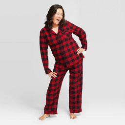 Women's Buffalo Check Flannel Pajama Set - Wondershop™ Red   Target