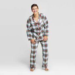 Women's Holiday Tartan Plaid Flannel Pajama Set - Wondershop™ White   Target