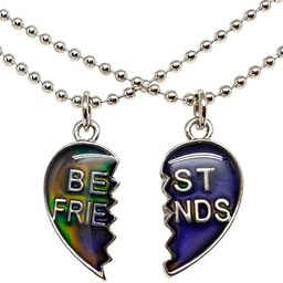 Mood Best Friend Heart Necklaces for 2 | Amazon (US)