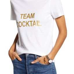 Team Cocktail Cotton Blend Tee | Nordstrom