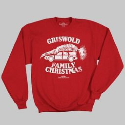Men's National Lampoon Christmas Vacation Fleece Pullover Sweater - Red   Target