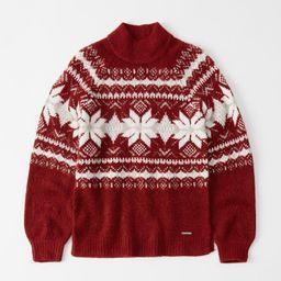 Fair Isle Mock Neck Sweater   Abercrombie & Fitch US & UK