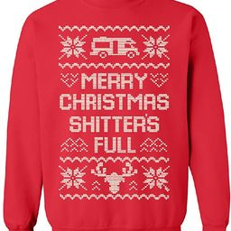 Merry Christmas Shitter's Full Unisex Crewneck Ugly Sweater Xmas Gift Sweater   Amazon (US)