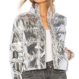 Stella Metallic Puffer Jacket in Silver   Revolve Clothing (Global)