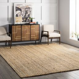 """Natural Jute Braided 2' 6"""" x 12' Area Rug   Rugs USA"""