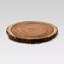 "15"" Acacia Wood Round Serving Platter Brown - Threshold™ | Target"