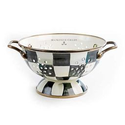 Courtly Check Enamel Colander - Small | MacKenzie-Childs
