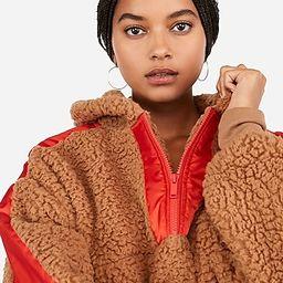 woven sherpa hooded zip sweatshirt | Express
