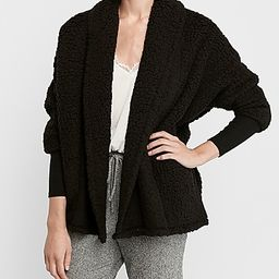 sherpa cocoon cardigan | Express