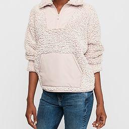 cozy kangaroo pocket sherpa sweatshirt | Express