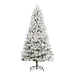 Holiday Time Pre-Lit Flocked Frisco Pine Christmas Tree, 6.5', Clear - Walmart.com | Walmart (US)