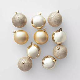 50ct Christmas Ornament Set 70mm Champagne - Wondershop™ | Target