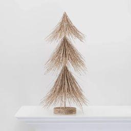 Large Gold Glitter Christmas Tree Decorative Figurine - Wondershop™ | Target