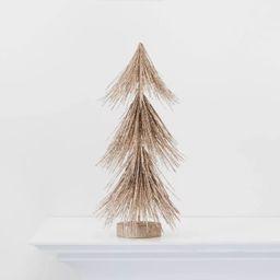 Small Gold Glitter Christmas Tree Figurine - Wondershop™ | Target