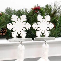 2ct Glitter Snowflake Christmas Stocking Holders - Wondershop™ | Target