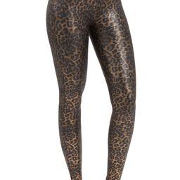 Leopard Print Faux Leather Leggings   Nordstrom