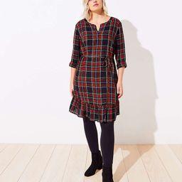 LOFT Plus Plaid Tiered Swing Dress | LOFT
