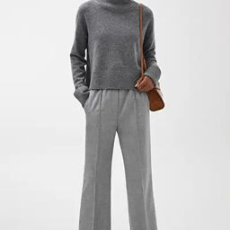 Elastic Waist Wool Trousers   ARKET
