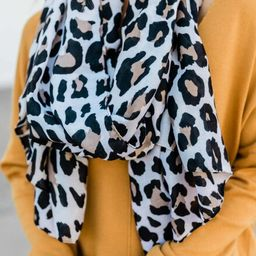 Rare Individual Cream Animal Print Scarf | The Pink Lily Boutique
