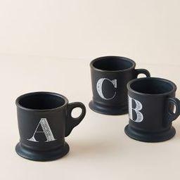 Noir Monogram Mug | Anthropologie (US)