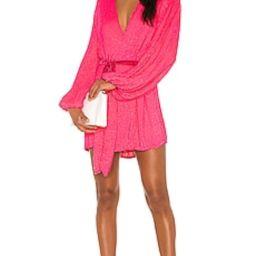 retrofete x REVOLVE Gabrielle Robe Dress in Pink Ultra from Revolve.com | Revolve Clothing (Global)