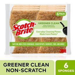 Scotch-Brite Greener Clean Non-Scratch Scrub Sponge, 6 Count | Walmart (US)