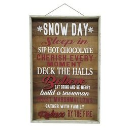 """30"""" Snow Day Framed Wall Sign by Ashland® 